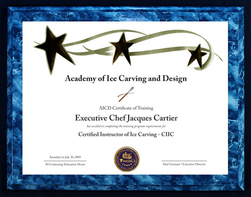 Academy of Ice Carving and Design - Ice Carving Instruction