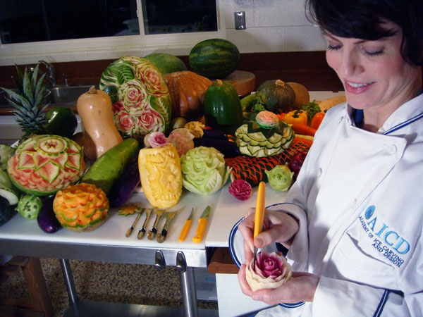 food carving student